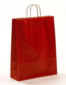 Papiertragetaschen mit gedrehter Papierkordel rot 32 x 12 x 41 cm, 100 Stück