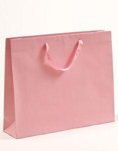 Papiertragetaschen Royal mit Baumwollbändern rosa 54 x 14 x 44,5 + 6 cm, 010 Stück