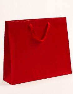 Papiertragetaschen Royal mit Baumwollbändern rot 54 x 14 x 44,5 + 6 cm, 10 Stück