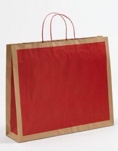 Papiertragetaschen Frame rot 54 x 14 x 44,5 + 6 cm, 100 Stück