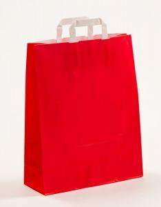 Papiertragetaschen mit Flachhenkel rot 32 x 12 x 40 cm, 200 Stück
