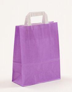 Papiertragetaschen mit Flachhenkel violett 22 x 10 x 28 cm, 150 Stück