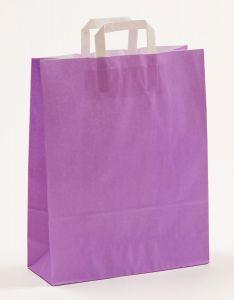 Papiertragetaschen mit Flachhenkel violett 32 x 12 x 40 cm, 100 Stück