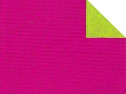 0,58 €/m Geschenkpapier 2-seitig pink/grün Rolle 50 cm x 100 lfm
