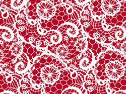 0,48€/m Geschenkpapier Spitze/Lace rot Rolle 50 cm x 100 lfm