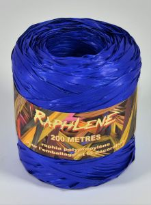 0,048€/m Raphia Band blau 12,5 mm x 200 m