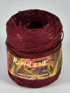 0,048€/m Raphia Band bordeaux 12,5 mm x 200 m