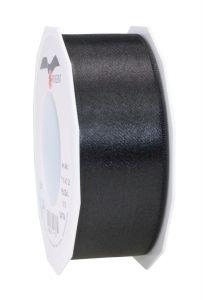 0,20€/m Satinband schwarz 40 mm x 25 m