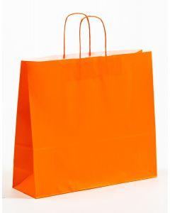 Papiertragetaschen mit gedrehter Papierkordel orange 42 x 13 x 37 cm, 025 Stück