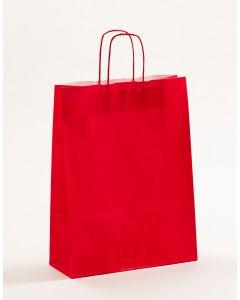 Papiertragetaschen mit gedrehter Papierkordel rot 32 x 13 x 42,5 cm, 200 Stück